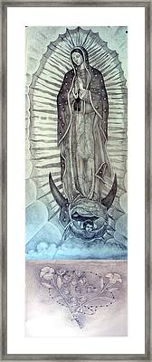 Guadalupe For Stained Glass Framed Print