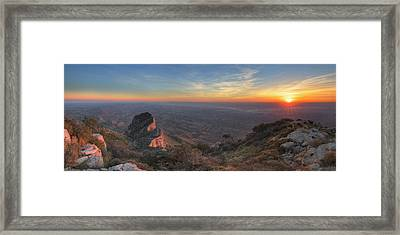 Guadalupe Mountains National Park At Sunset 1 Framed Print