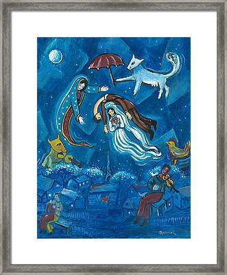 Guadalupe Visits Chagall Framed Print