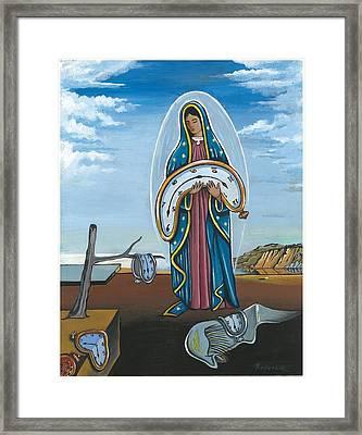 Guadalupe Visits Dali Framed Print