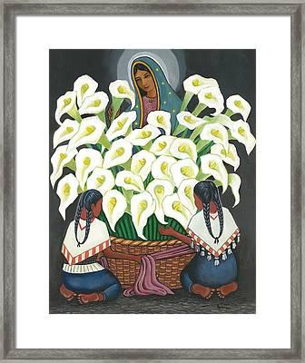 Guadalupe Visits Diego Rivera Framed Print