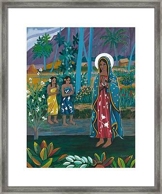 Guadalupe Visits Gauguin Framed Print