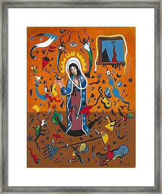 Guadalupe Visits Miro Framed Print