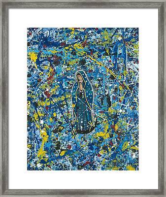 Guadalupe Visits Pollack Framed Print