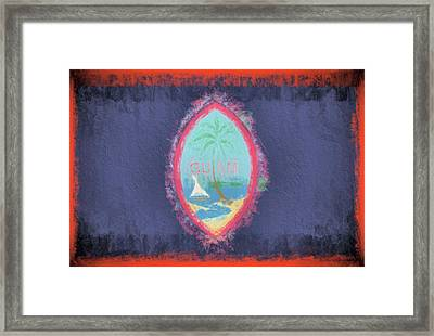 Framed Print featuring the digital art Guam Flag by JC Findley