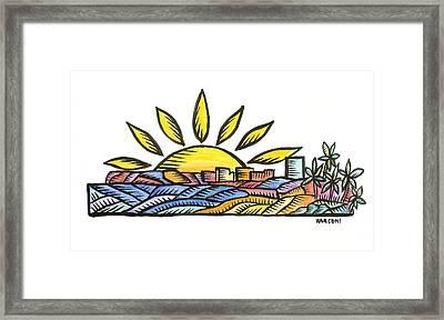 Guam Sunset 2009 Framed Print by Marconi Calindas