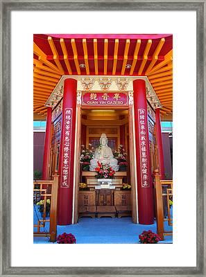 Guan Yin Gazebo Framed Print
