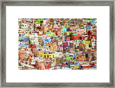 Framed Print featuring the photograph Guanajuato 1, Mexico. by Rob Huntley