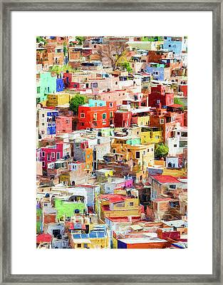 Framed Print featuring the photograph Guanajuato 2, Mexico. by Rob Huntley