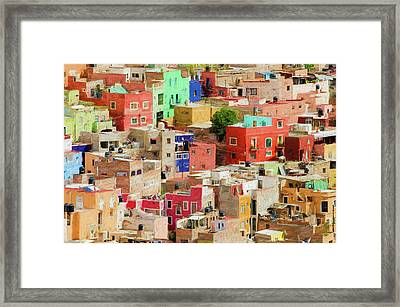 Framed Print featuring the photograph Guanajuato 3, Mexico. by Rob Huntley