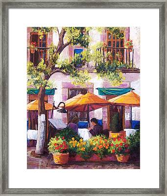Guanajuato Cafe Framed Print by Candy Mayer