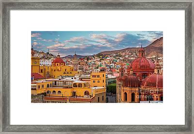 Guanajuato City Panorama Framed Print by Inge Johnsson