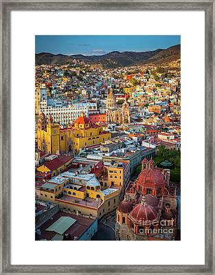 Guanajuato From Above Framed Print