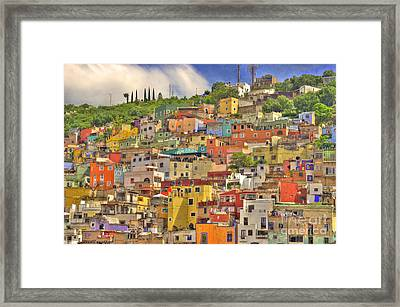 Guanajuato Hillside Framed Print by Juli Scalzi