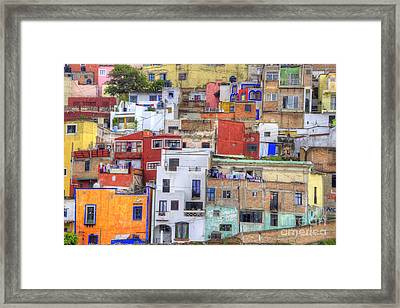 Guanajuato Jumble Framed Print by Juli Scalzi