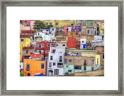 Guanajuato Jumble Framed Print
