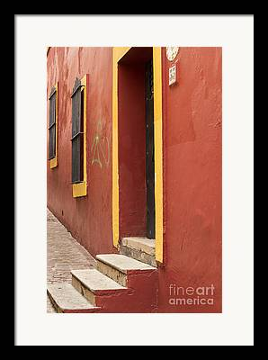 Alley Stairs Framed Prints