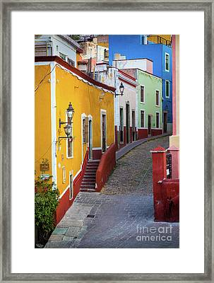 Guanajuato Street Framed Print by Inge Johnsson
