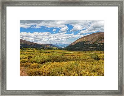 Guanella Pass Framed Print by John M Bailey