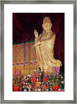 Guanyin Bodhisattva - Jin'an's Rare Female Buddha Framed Print by Christine Till