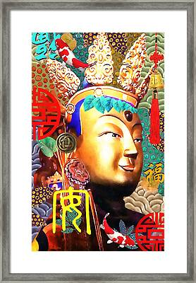 Guanyin Framed Print by Stacey Chiew