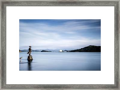 Guard Of Jindo Framed Print