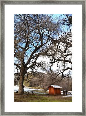 Framed Print featuring the photograph Guard Shack At Fort Tejon Lebec California by Floyd Snyder