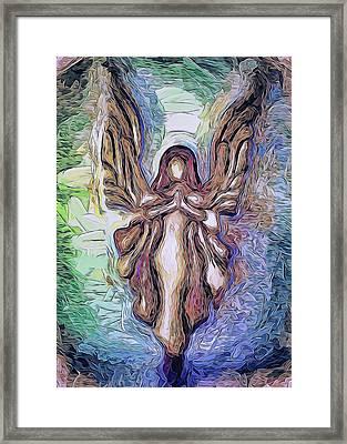Guardian Angel - 2 Framed Print by Art OLena