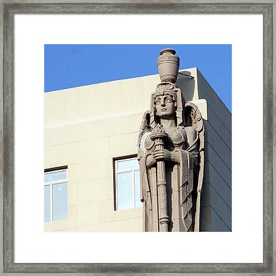 Guardian Angel And Blue Framed Print