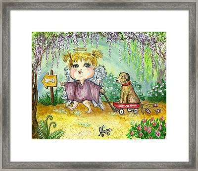 Guardian Angel Kindness Framed Print by Carolyn Hope