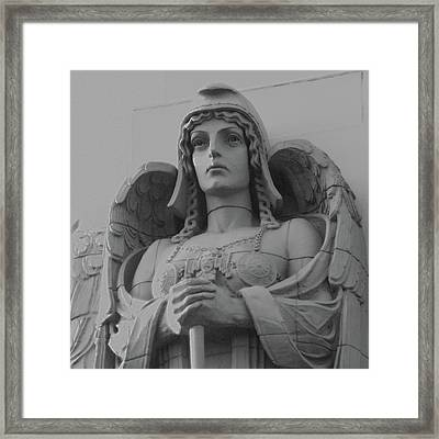 Guardian Angel On Watch Framed Print