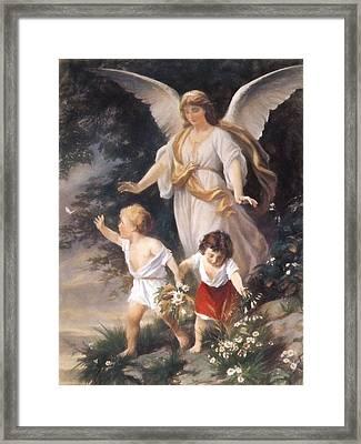 Guardian Angel Pastel Framed Print by Roy Pedersen