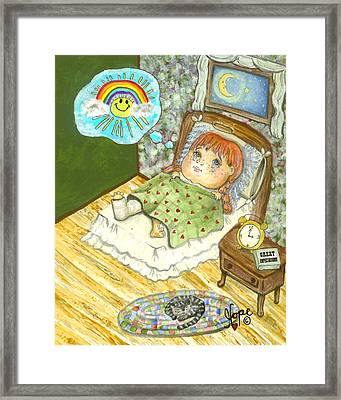 Guardian Angel Patience Framed Print by Carolyn Hope