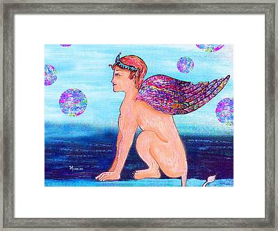 Guardian At The Far Gate Framed Print by Michael A Klein