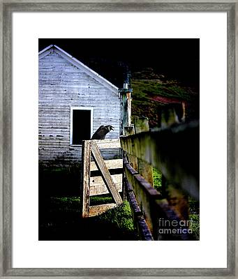 Guardian At The Gate Framed Print by Wingsdomain Art and Photography