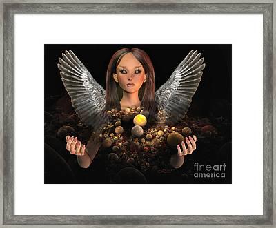 Guardian Framed Print by Jutta Maria Pusl