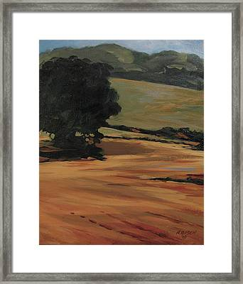 Guardian Of The Field Framed Print