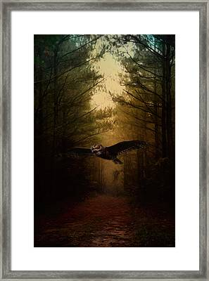 Guardian Of The Forest Framed Print by Jai Johnson