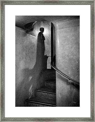 Guardian Of The Secret Staircase. Framed Print