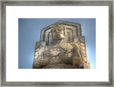 Guardian Of Traffic Framed Print by David Bearden