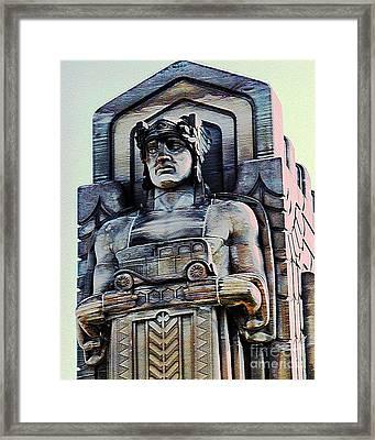 Guardian Of Traffic Framed Print by Donna Stewart