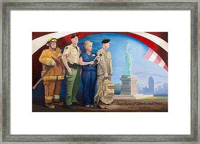 Guardians Of Liberty And Peace Framed Print by Michael Wilson