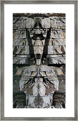 Framed Print featuring the photograph Guardians Of The Lake by Cathie Douglas