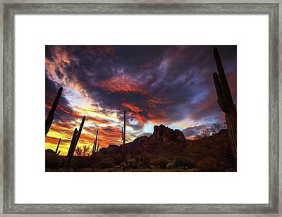 Guardians Of The Mountain Framed Print