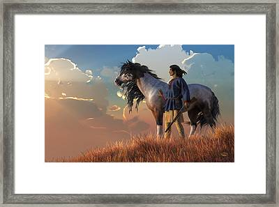Guardians Of The Plains Framed Print by Daniel Eskridge