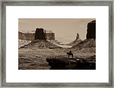 Guardians Of The Valley Framed Print by E Mac MacKay
