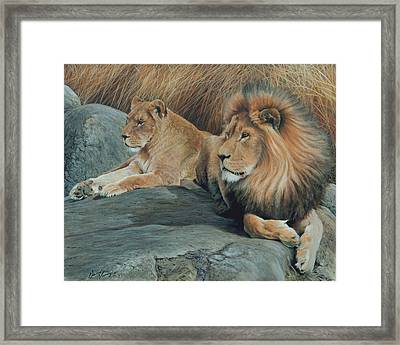 Guardians Of The Wild Framed Print