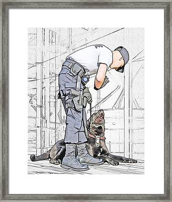 Guarding The City Framed Print by Francesa Miller