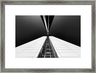 Guarding The Elevator Shaft Framed Print