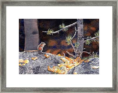 Guarding The Gold Framed Print by Lorraine Watry